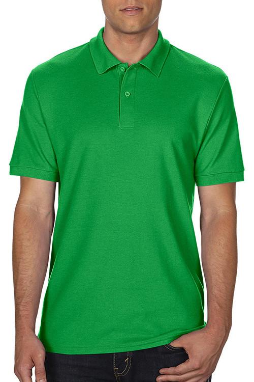 Tricou polo verde DryBlend® Double Piqué Gildan