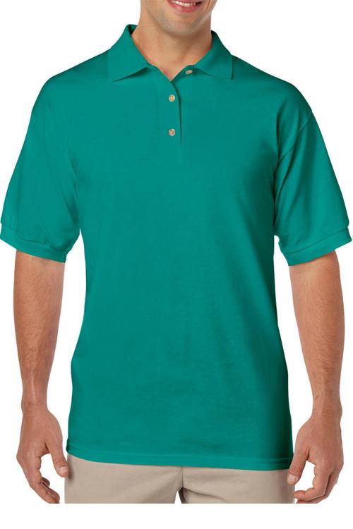 Tricou polo verde DryBlend Jersey Gildan