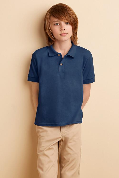 Tricou polo de copii jerseu Gildan