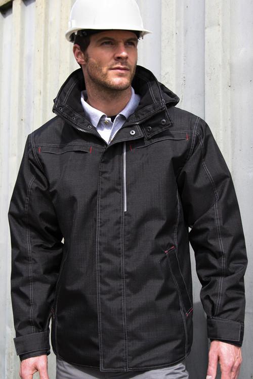 Jachetă robustă cu textură Denim Result