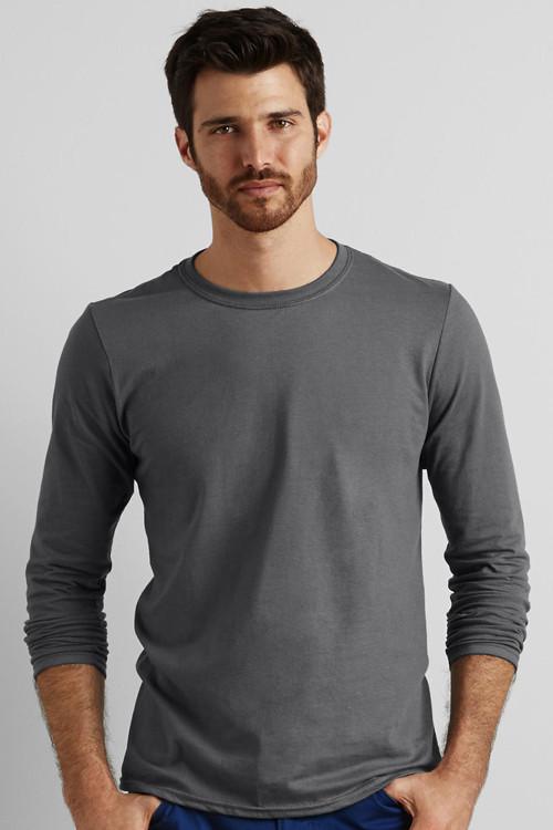 Tricou bărbat cu mânecă lungă Softstyle® Gildan