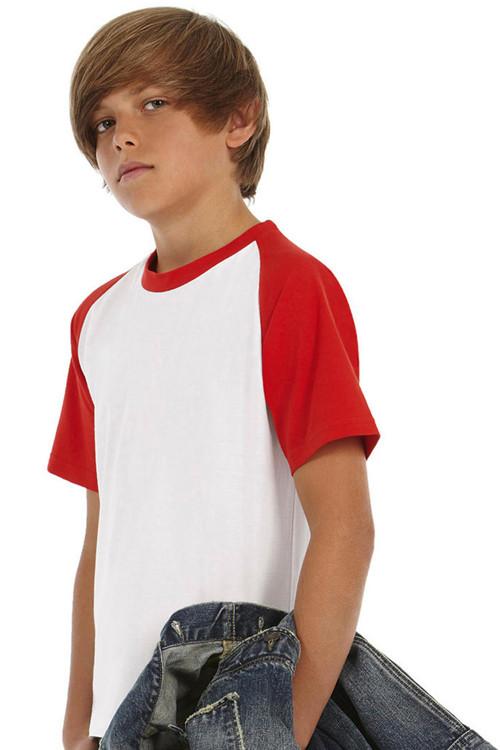 Tricou Baseball de copii B&C Collection