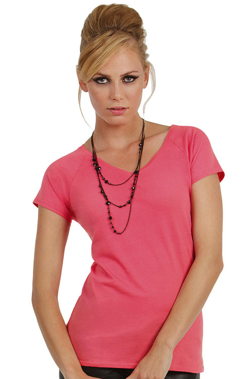 Tricou de damă Classic cu decolteu V-neck B&C Collection