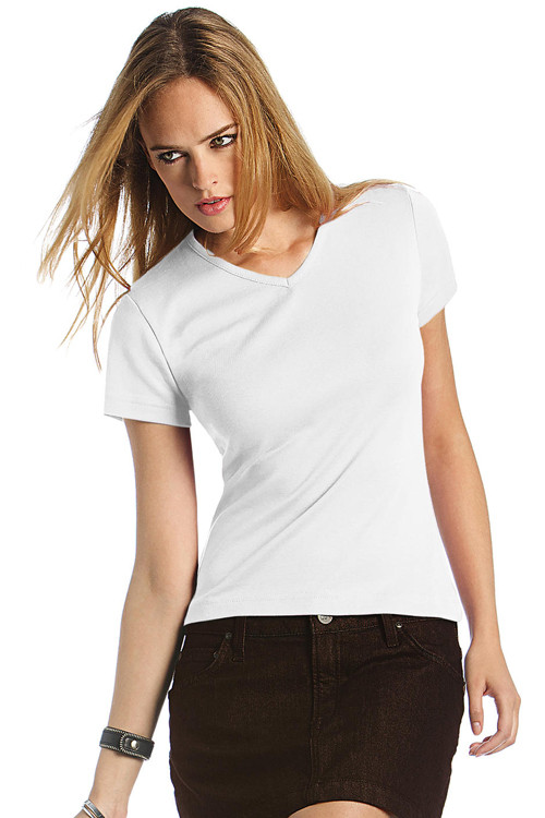 Tricou de damă V-Neck B&C Collection