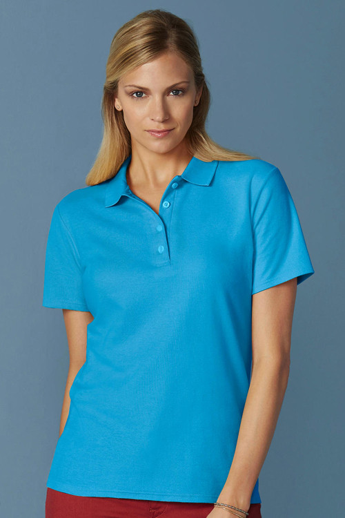 Tricou polo damă Softstyle® Double Pique Gildan