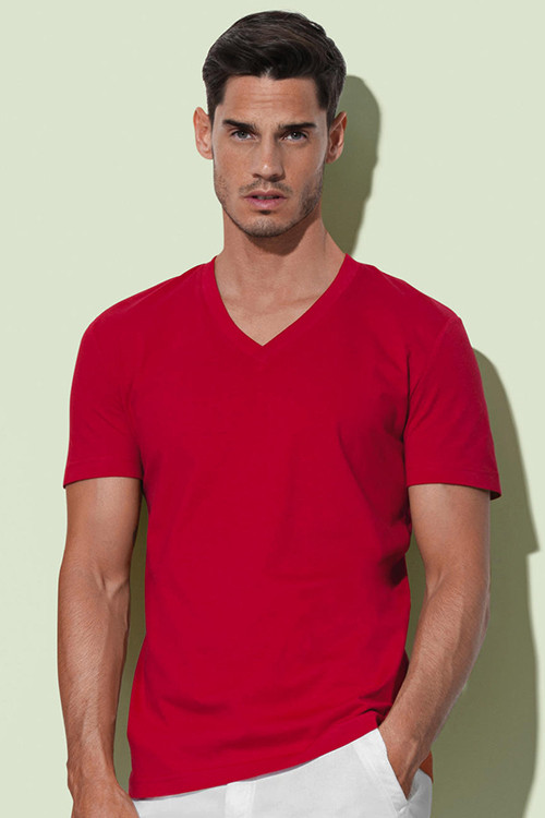 Tricou V-decolteu James Stedman