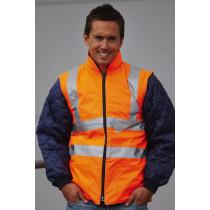 Jachetă matlasată Hi-Vis cu mâneci detaşabile YOKO